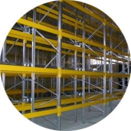 Production of warehouse pallet racking systems